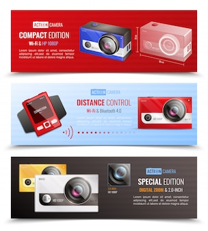 Zestaw bannerów kamery akcji