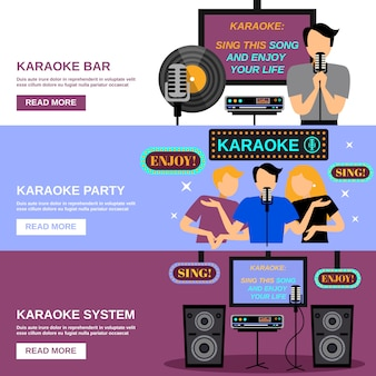 Zestaw bannerów karaoke