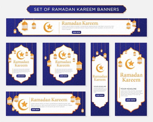 Zestaw bannerów kareem ramadan