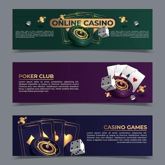 Zestaw bannerów kasyna