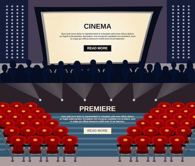 Zestaw bannerów kinowych
