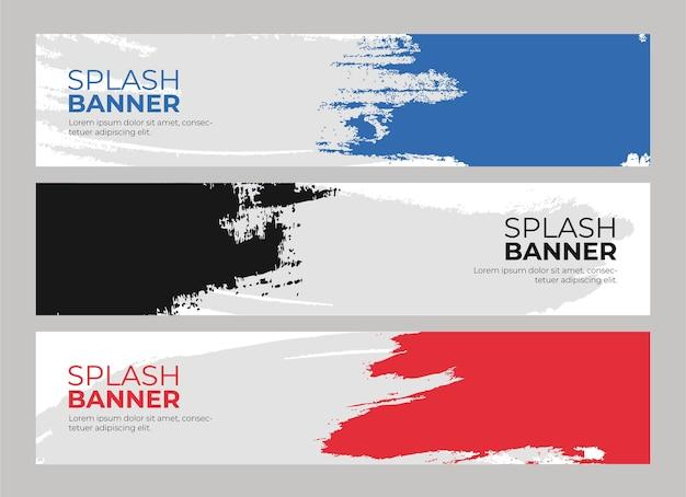 Zestaw bannerów kolorowe splash