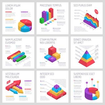 Zestaw bannerów kwadratowych infographic