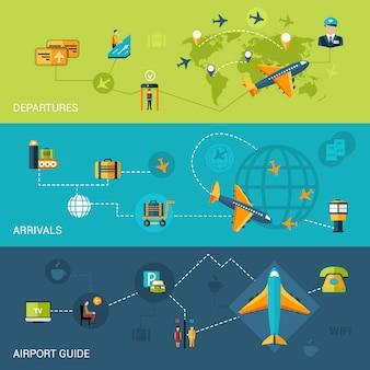 Zestaw bannerów lotniskowych