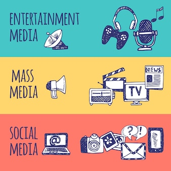 Zestaw bannerów multimedialnych