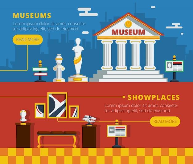 Zestaw bannerów muzeum