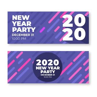 Zestaw bannerów nowego roku