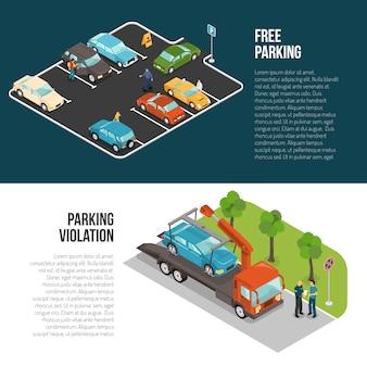 Zestaw bannerów parkingowych samochodu