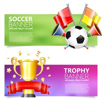 Zestaw bannerów piłkarskich