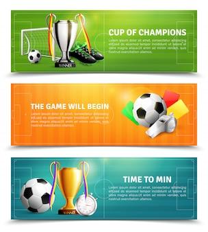 Zestaw bannerów piłki nożnej