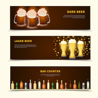 Zestaw bannerów piwa