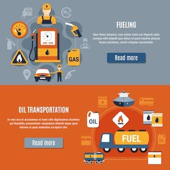 Zestaw bannerów pompy paliwa