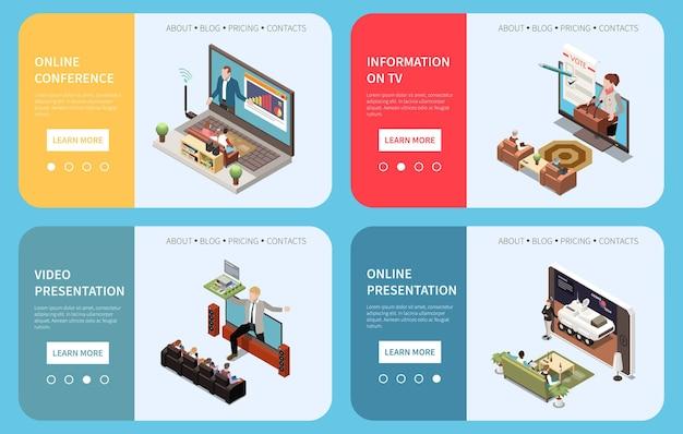 Zestaw bannerów prezentacji online