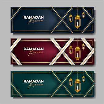 Zestaw bannerów ramadan kareem