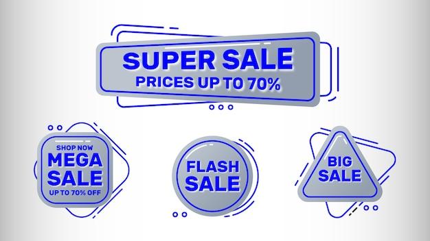 Zestaw bannerów sprzedaż