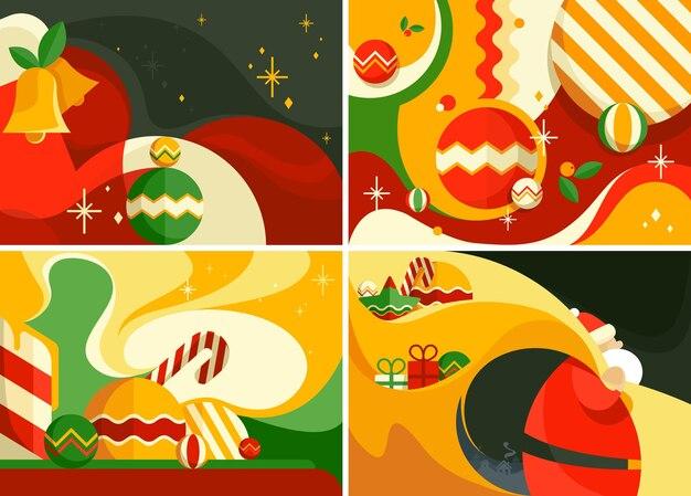 Zestaw bannerów świątecznych. różne szablony pocztówek.