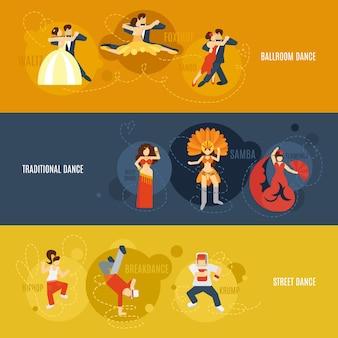 Zestaw bannerów tanecznych