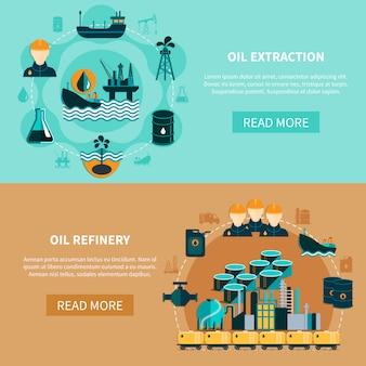 Zestaw bannerów transportu ropy naftowej