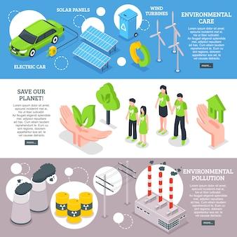 Zestaw bannerów troski o środowisko