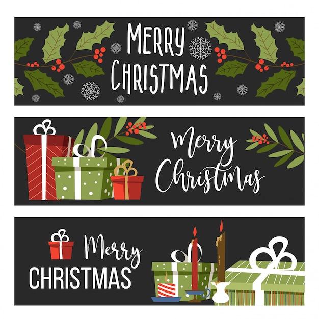 Zestaw bannerów wesołych świąt