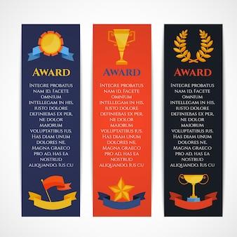 Zestaw bannerów z nagrodami