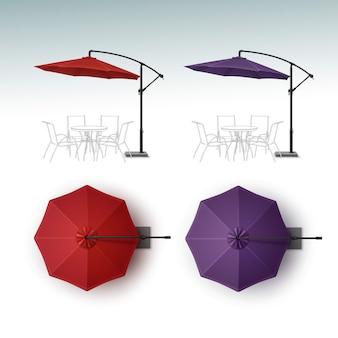Zestaw beach cafe bar pub parasol parasol