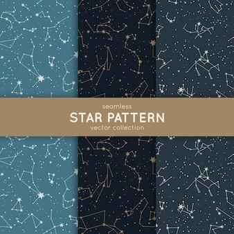 Zestaw bez szwu wzór gwiazdy.