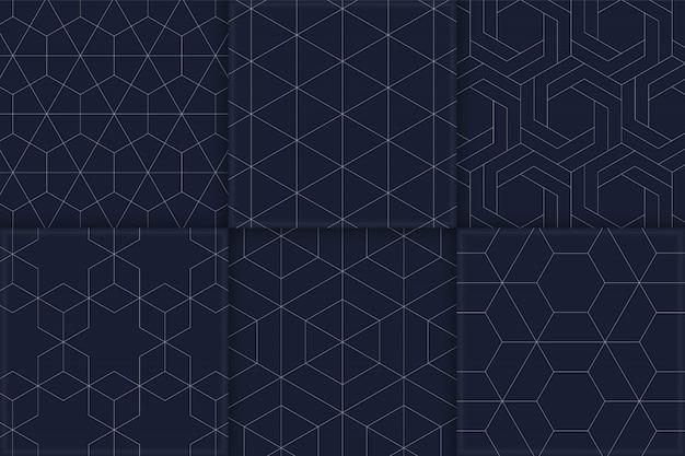 Zestaw bez szwu wzorów geometrycznych