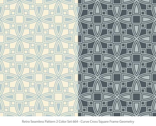 Zestaw bez szwu wzorów z geometrią ramki kwadratowej krzywej