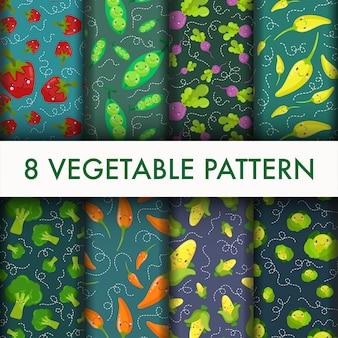 Zestaw bezszwowe wzór warzyw.