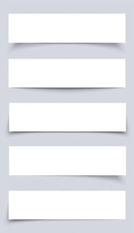 Zestaw białego prostokątnego papieru