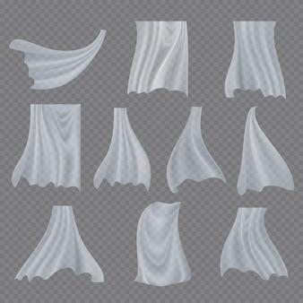 Zestaw białej tkaniny