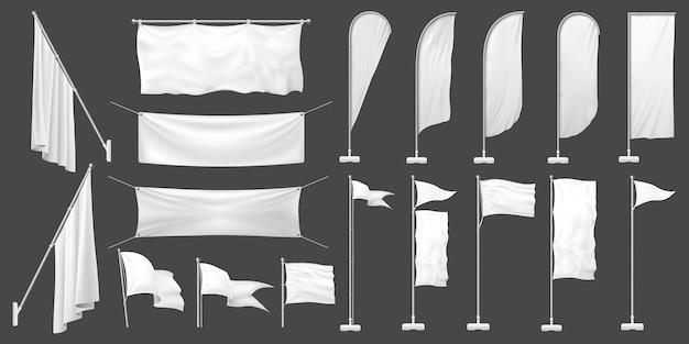 Zestaw białych flag