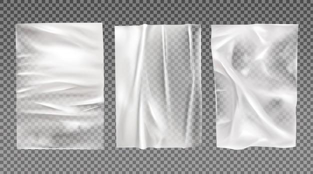 Zestaw białych mokrych papierów