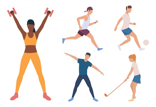 Zestaw biegacza, piłkarza i jogina
