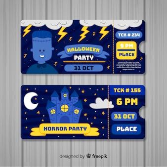 Zestaw biletów party halloween