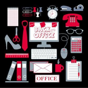 Zestaw biurowy abstrakcyjne tło