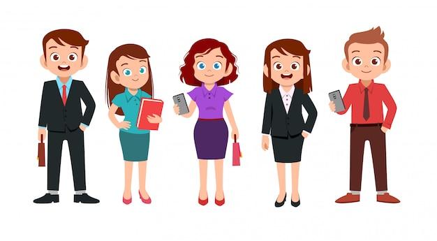 Zestaw biurowy mężczyzny i kobiety