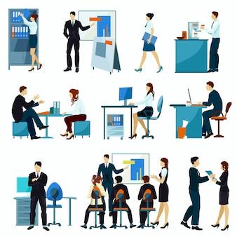 Zestaw biurowy pracowników biurowych