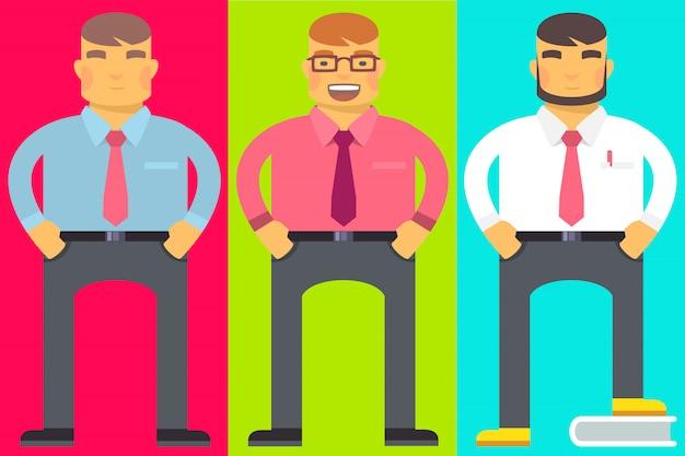 Zestaw biurowych mężczyzn