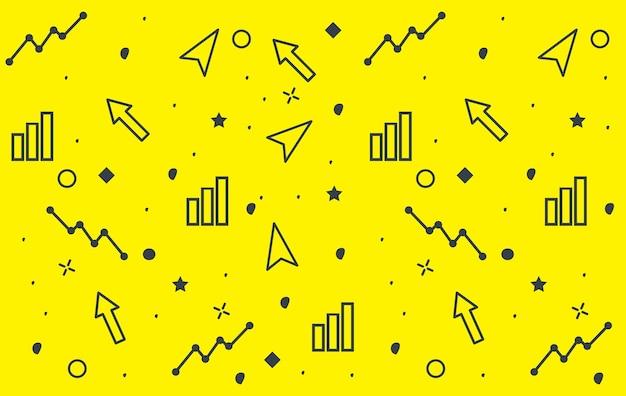 Zestaw biznes doodle projekt tekstura