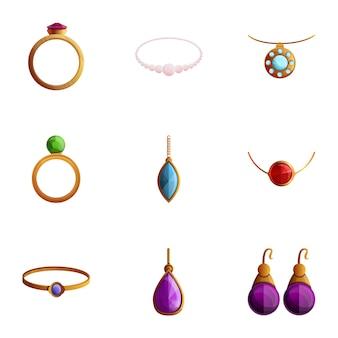 Zestaw biżuterii, w stylu cartoon