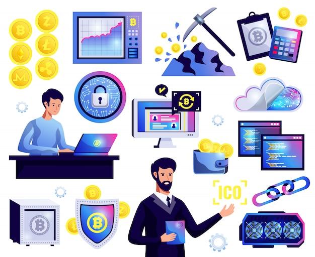 Zestaw blockchain kryptowaluty
