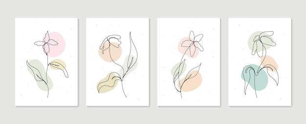 Zestaw botanicznej grafiki ściennej