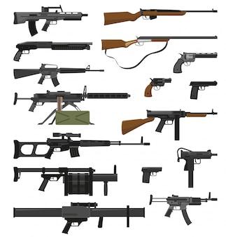Zestaw broni broni