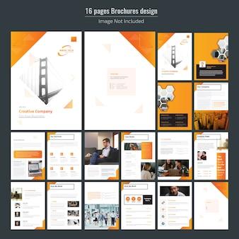 Zestaw broszur biznesowych z 16 stronami