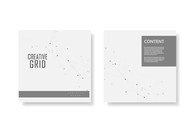 Zestaw broszur obejmuje szablon z połączeniem
