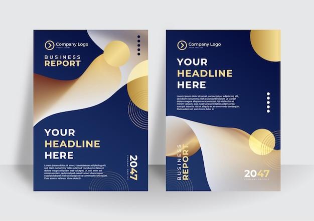 Zestaw broszur, raportów rocznych, szablonów projektów ulotek w formacie a4. ilustracje wektorowe do prezentacji biznesowych, papieru biznesowego, okładek dokumentów korporacyjnych i projektów szablonów układu