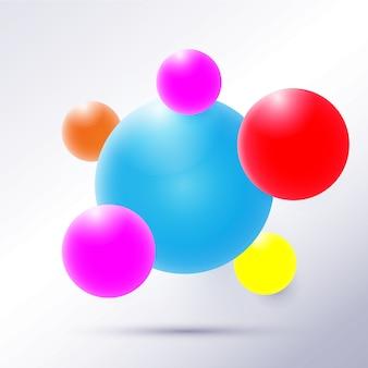 Zestaw brylantowych kolorowych kulek.