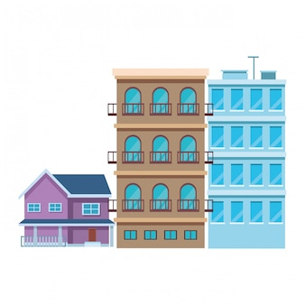 Zestaw budynków miejskich